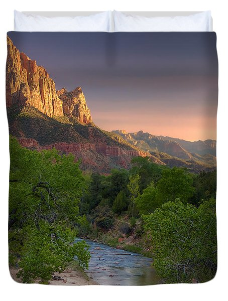 Zion Canyon Sunset Duvet Cover