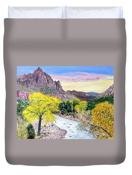 Zion Creek Duvet Cover