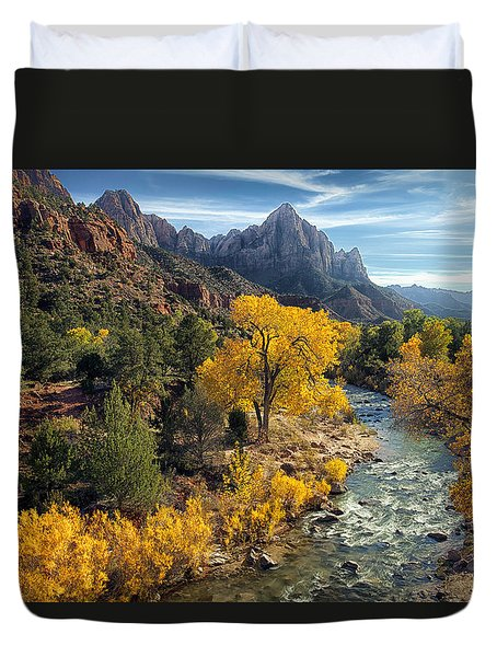 Zion Fall Foliage Duvet Cover