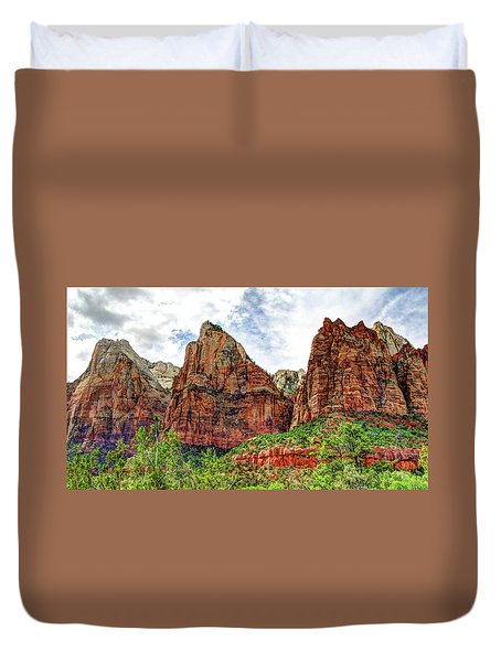 Zion N P # 41 - Court Of The Patriarchs Duvet Cover