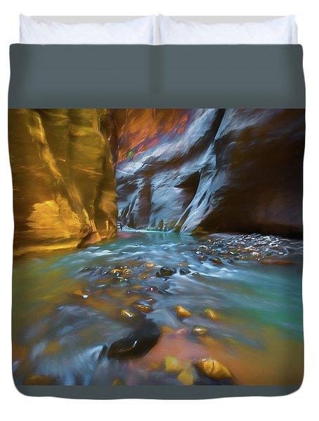 Zion Watercolor Duvet Cover