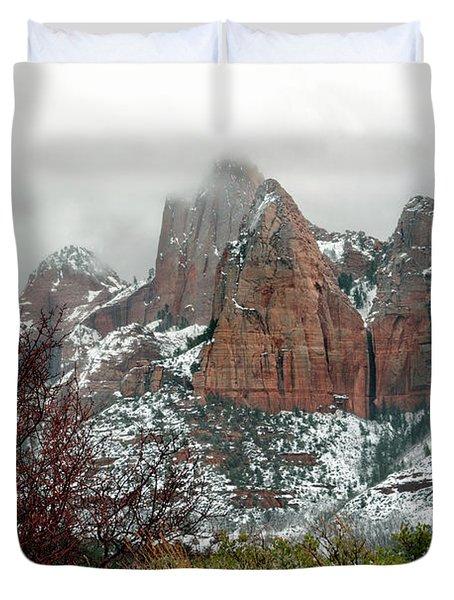 Zion Winter Skyline Duvet Cover