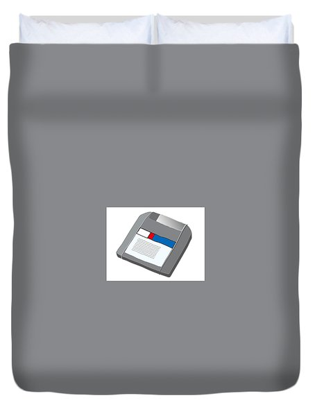 Zip Disk Duvet Cover