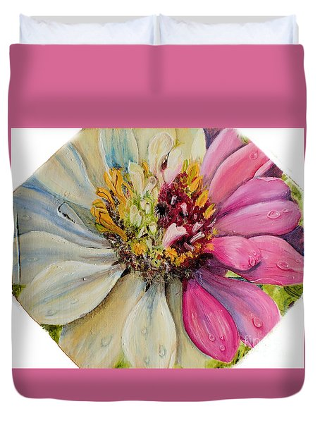 Zippy Zinnia Duvet Cover