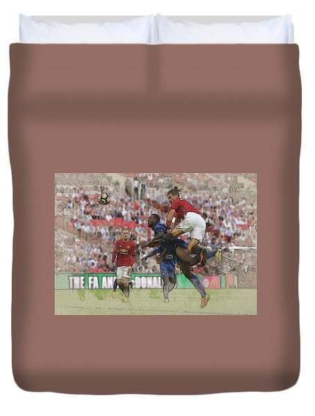 Zlatan Ibrahimovic Header Duvet Cover by Don Kuing