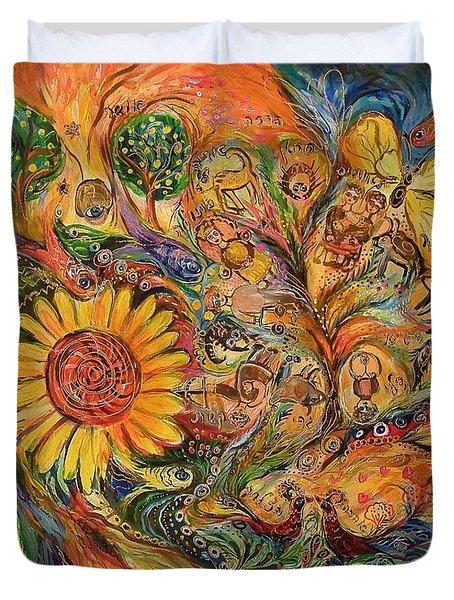 Zodiac Duvet Cover by Elena Kotliarker