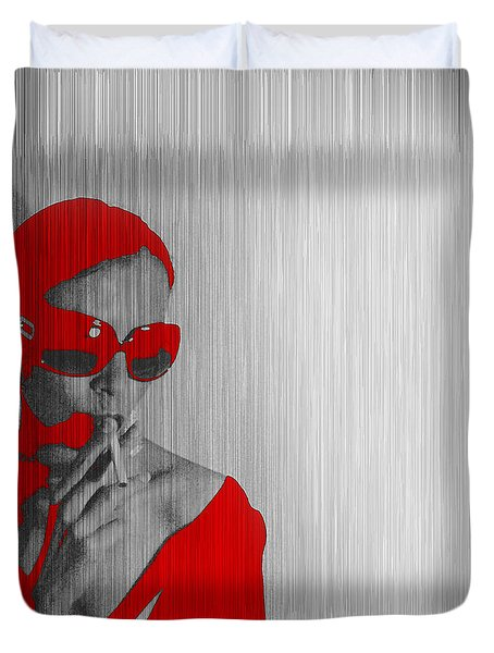 Zoe In Red Duvet Cover by Naxart Studio