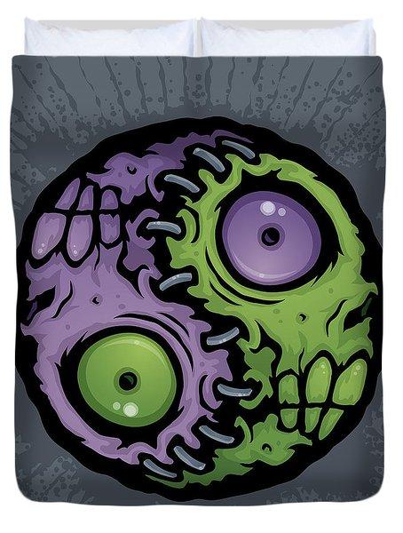 Zombie Yin-yang Duvet Cover by John Schwegel