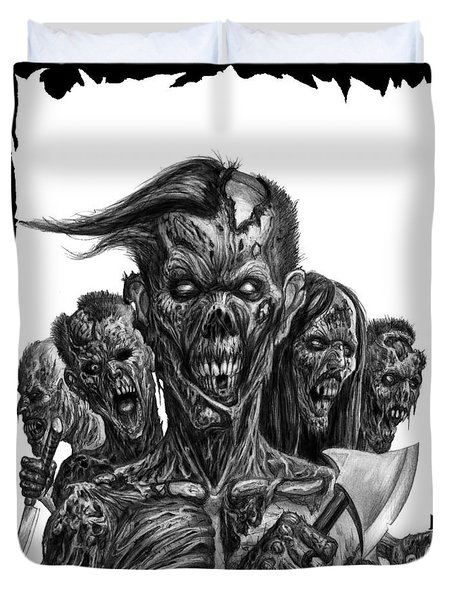 Zombies  Duvet Cover by Tony Koehl