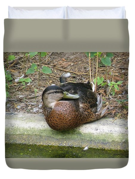 Zoo Duck Duvet Cover