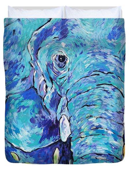 Zoo Elephant  Duvet Cover