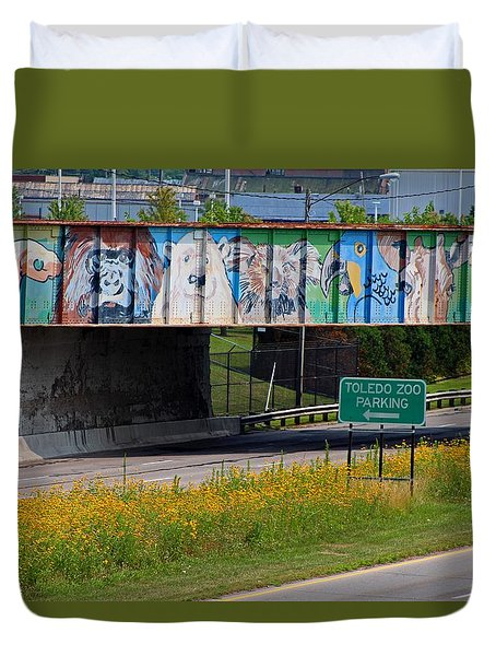 Zoo Mural Duvet Cover