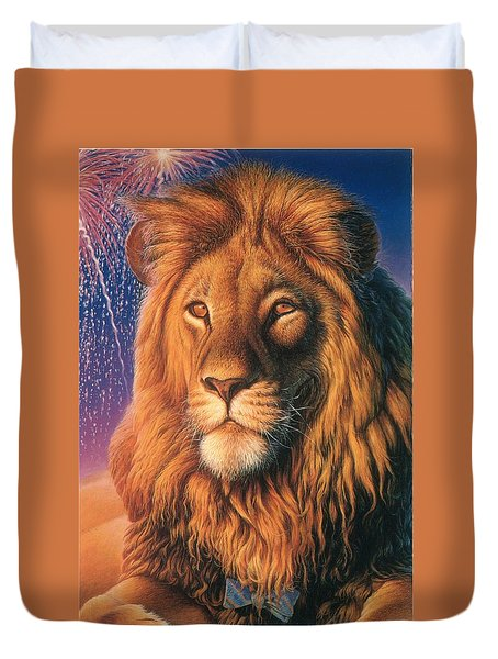 Zoofari Poster The Lion Duvet Cover