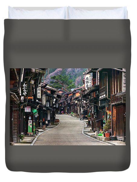 Duvet Cover featuring the photograph Zooming Back To The Past by Peter Thoeny