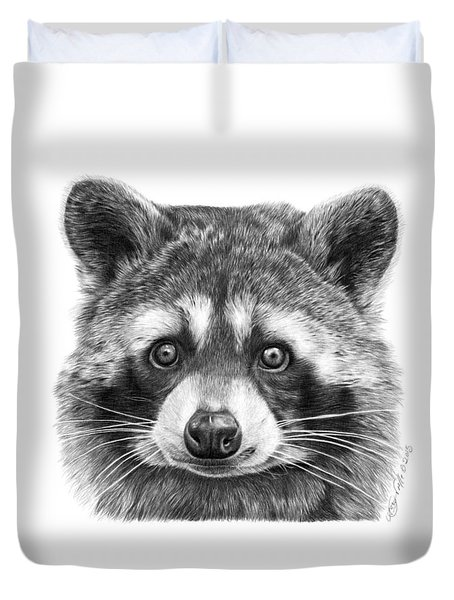 046 Zorro The Raccoon Duvet Cover