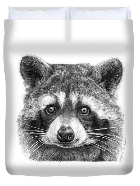 046 Zorro The Raccoon Duvet Cover by Abbey Noelle