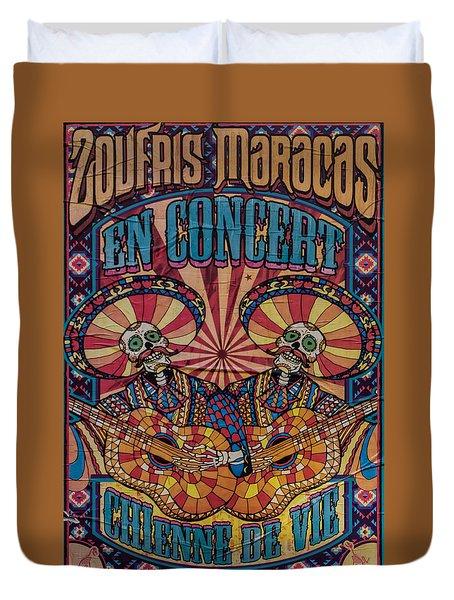 Zoufris Maracas Poster Duvet Cover