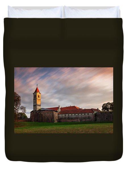 Duvet Cover featuring the photograph Zrinskis' Castle by Davor Zerjav