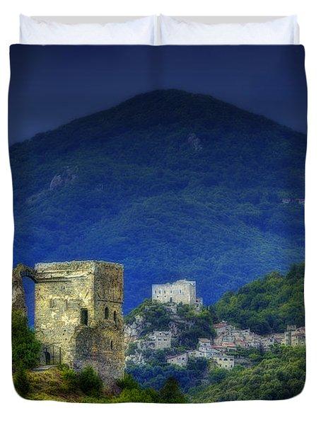 Zuccarello E Castelvecchio Di Rocca Barbena Duvet Cover