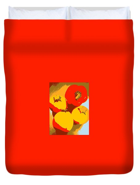 Zucchini And Bell Pepper Duvet Cover