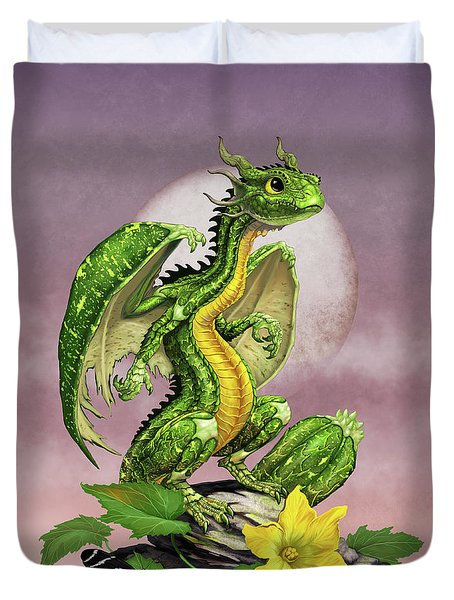 Zucchini Dragon Duvet Cover by Stanley Morrison