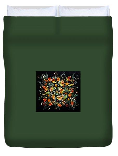 Zucchini Flower Patterns Duvet Cover