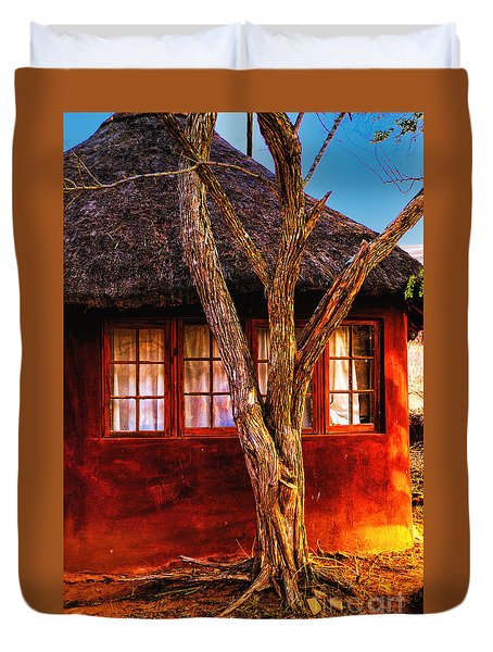 Zulu Hut Duvet Cover