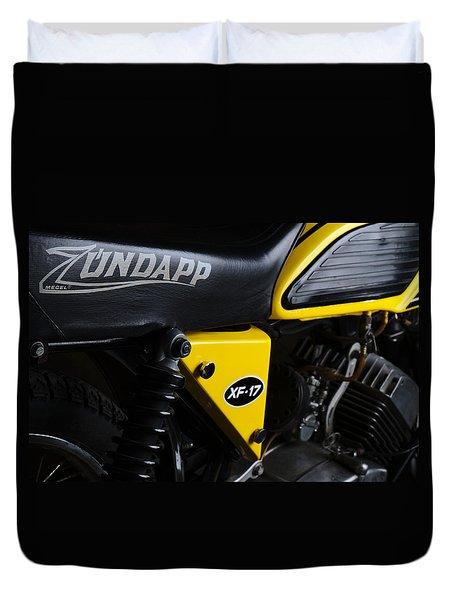 Classic Zundapp Bike Xf-17 Side View Duvet Cover