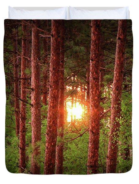 010 - Pine Sunset Duvet Cover