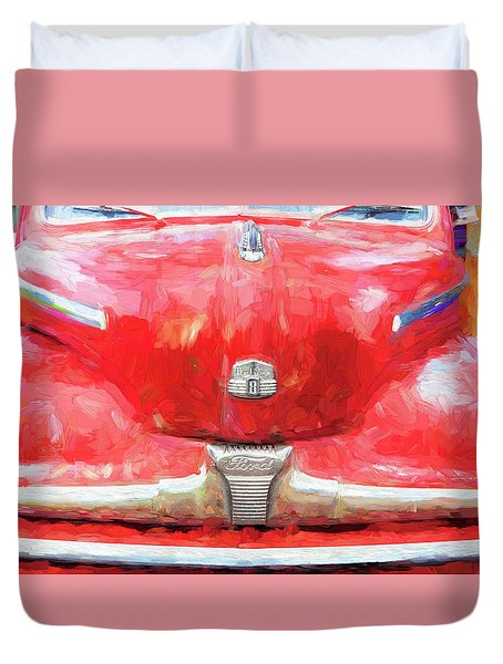 1947 Ford Super Deluxe Coupe 006 Duvet Cover