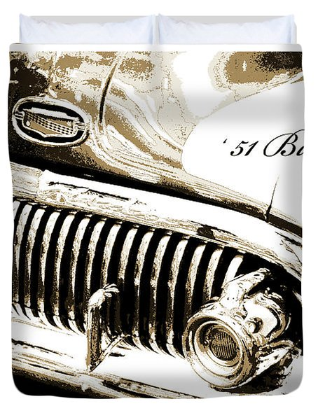 1951 Buick Super, Digital Art Duvet Cover