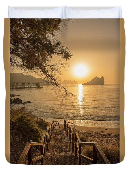 Access To The Beach At Dawn Duvet Cover