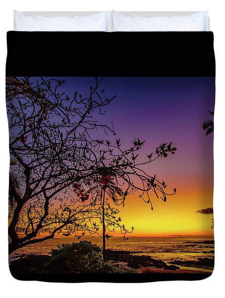 After Sunset Colors Duvet Cover