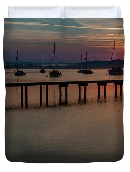 Ammersee Sunrise Duvet Cover