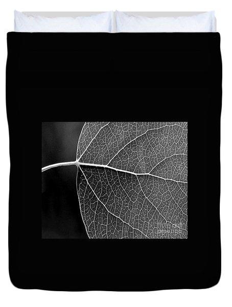 Aspen Leaf Veins Duvet Cover