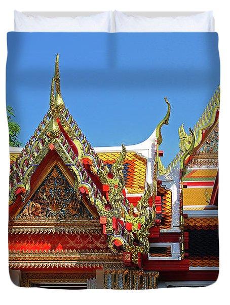 Bangkok, Thailand - Wat Phra Kaew - Temple Of The Emerald Buddha Duvet Cover