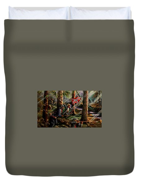 Battle Of Chancellorsville - The Wilderness Duvet Cover
