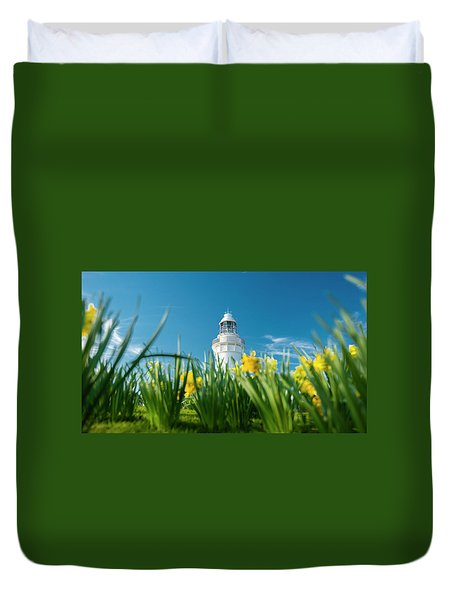 Duvet Cover featuring the photograph Beautiful Table Cape Lighthouse In Tasmania. by Rob D