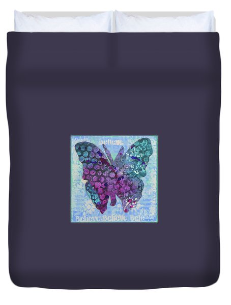 Believe Butterfly Duvet Cover