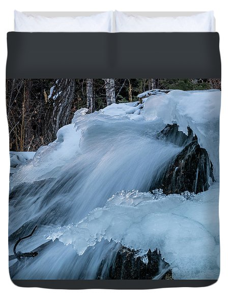 Big Hills Springs Under Snow And Ice, Big Hill Springs Provincia Duvet Cover
