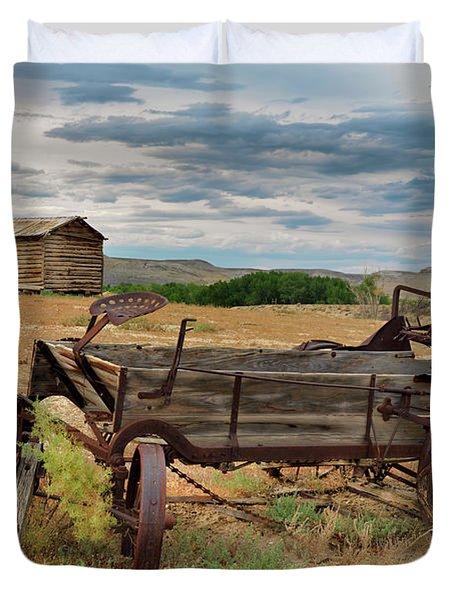 Bighorn Basin History Duvet Cover