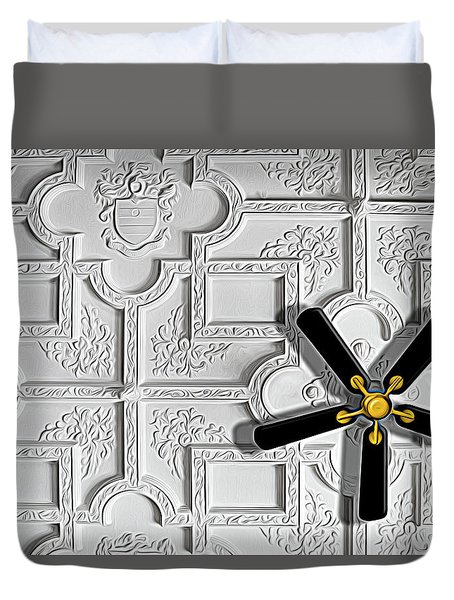 Black And White In Color Duvet Cover