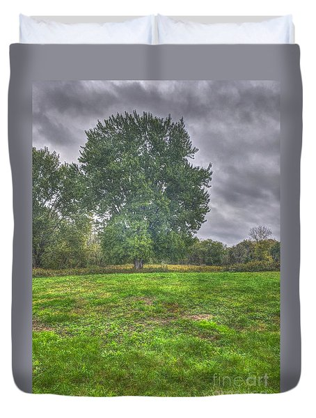Blacklick Circle Earthwork Duvet Cover