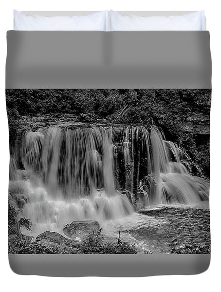 Blackwater Falls Mono 1309 Duvet Cover