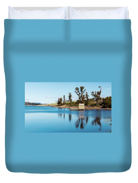 Duvet Cover featuring the photograph Boat Jetty Found On Bruny Island In Tasmania, Australia. by Rob D