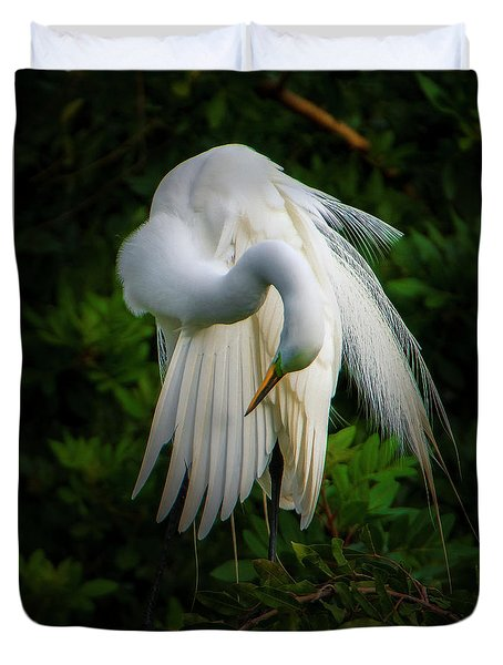Breeding Plumage And Color Duvet Cover