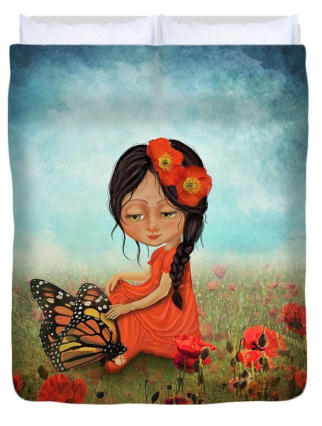 Butterfly Whisperer Duvet Cover