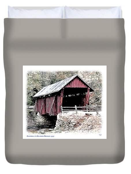 Campbells Covered Bridge Duvet Cover