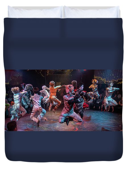 Cats In The Air Duvet Cover