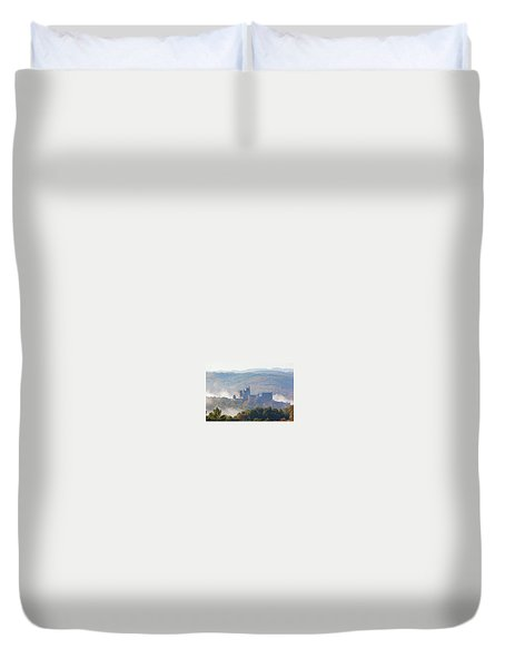 Chateau Beynac In The Mist Duvet Cover